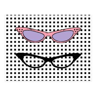 Custom - 1950 Cats'-Eye Glasses Note Card