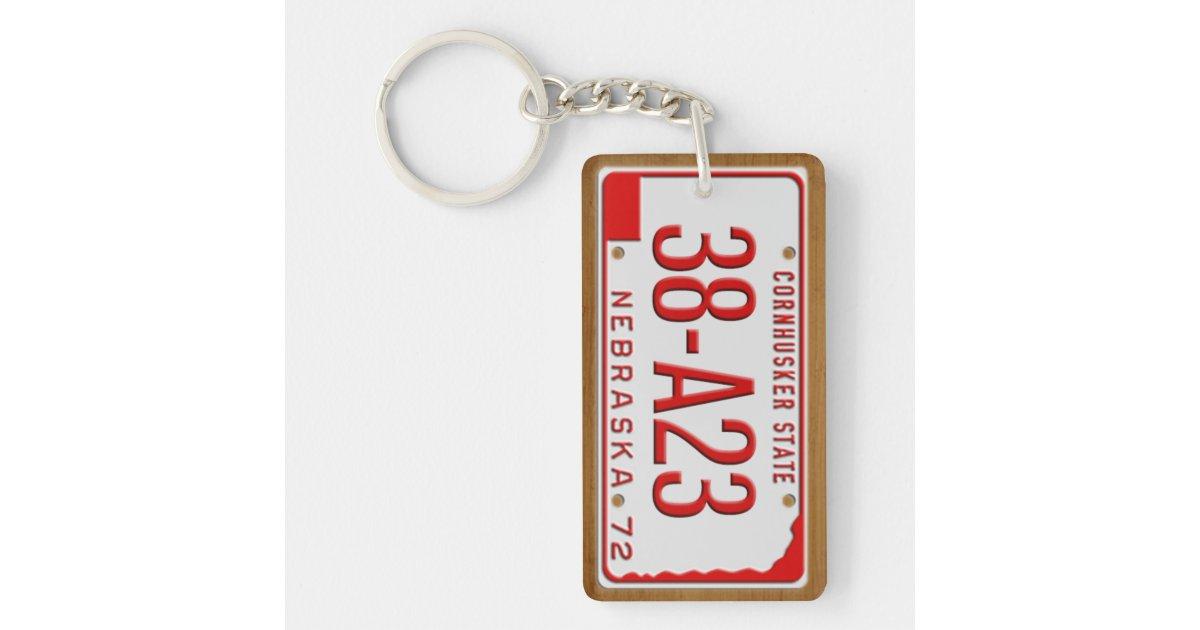 Custom 1972 Nebraska License Plate Keychain   Zazzle