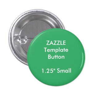 "Custom 1.25"" Small Round Button Pin Blank Template"