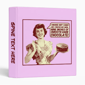 "Custom 1"" Binder - Nine Inches of Chocolate"
