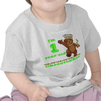 Custom 1st Birthday Party Royal Bear Tee Shirt