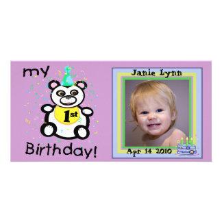 Custom 1st Birthday Photo Cards