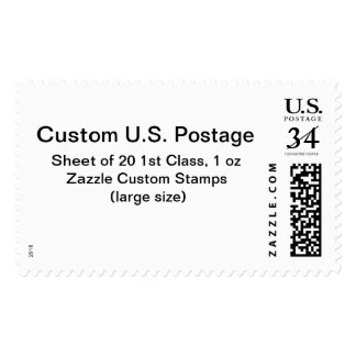Custom 1st Class 1 oz Postage (Large Size)