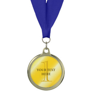 Custom 1st prize gold sport medallion medal trophy