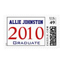 Custom 2010 Graduate Name Red Blue Postage