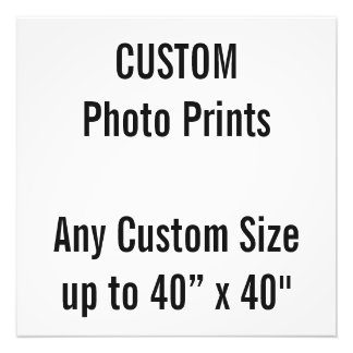 "Custom 20"" x 20"" Photo Print (or any custom size)"