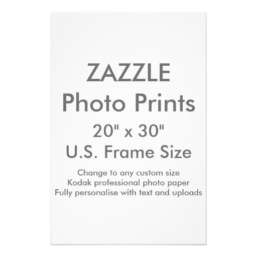 custom 20 x 30 photo print us frame size zazzle. Black Bedroom Furniture Sets. Home Design Ideas