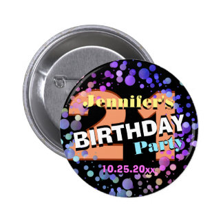 Custom 21st Birthday Party Pinback Button