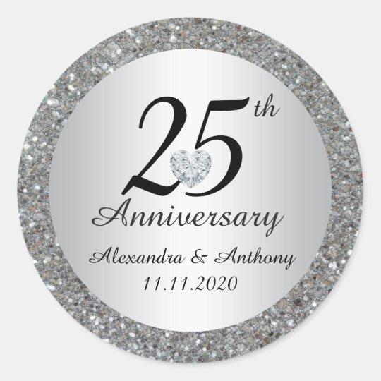 custom 25th wedding anniversary envelope seals zazzle com