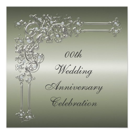 Custom 25th Wedding Anniversary Party Invitation