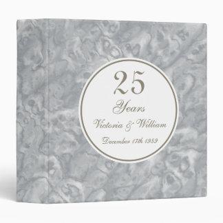 Custom 25th Wedding Anniversary Scrapbook Gift Binder