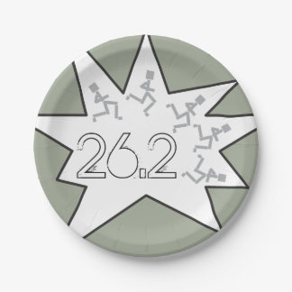 Custom 26.2 Marathon Runners Party Supplies Paper Plate