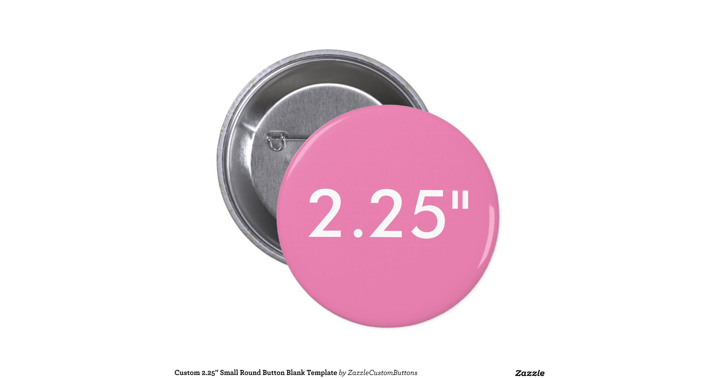 custom small round button blank template zazzle. Black Bedroom Furniture Sets. Home Design Ideas