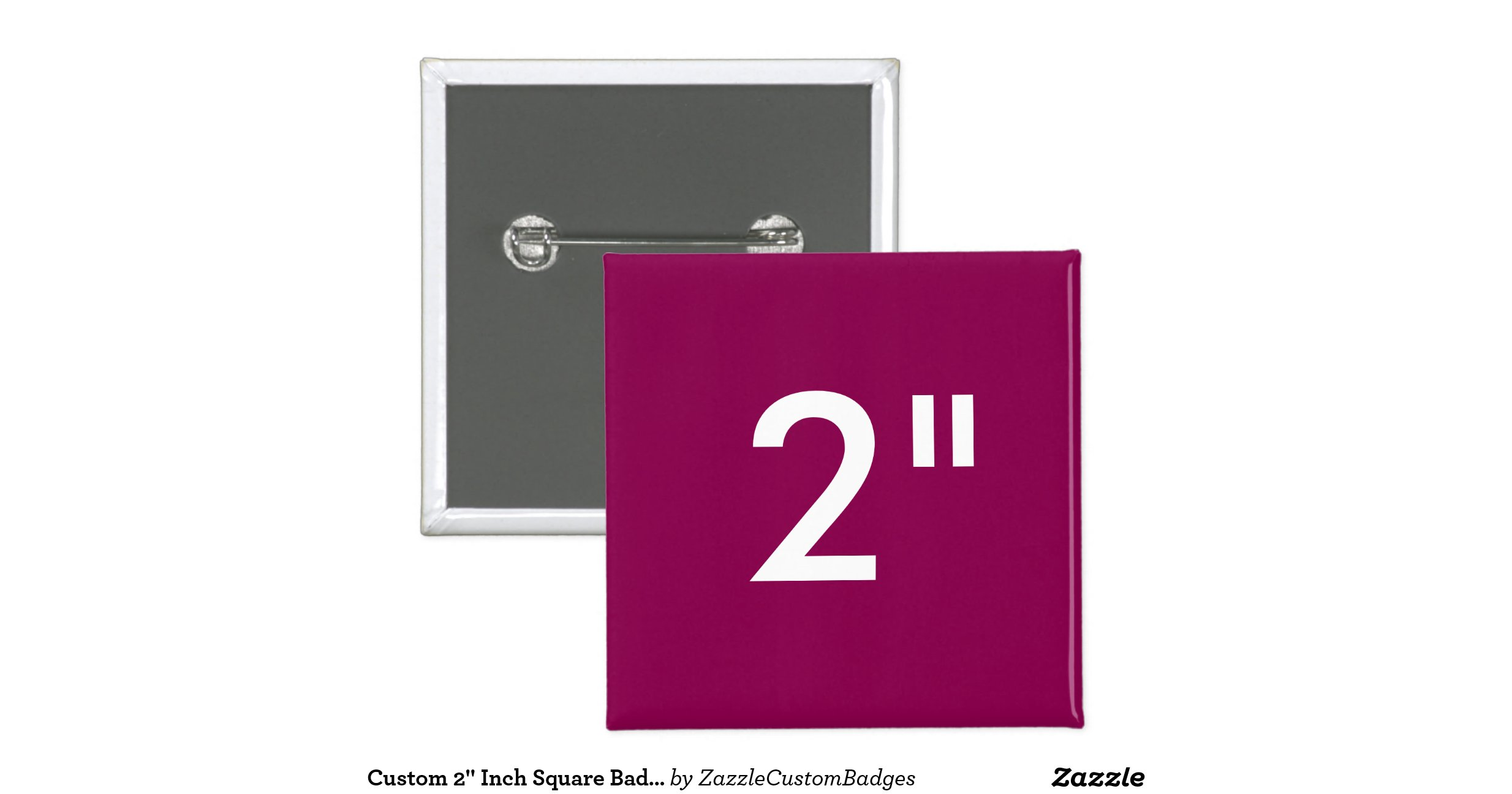 custom 2 inch square badge blank template plum 2 inch square button zazzle. Black Bedroom Furniture Sets. Home Design Ideas
