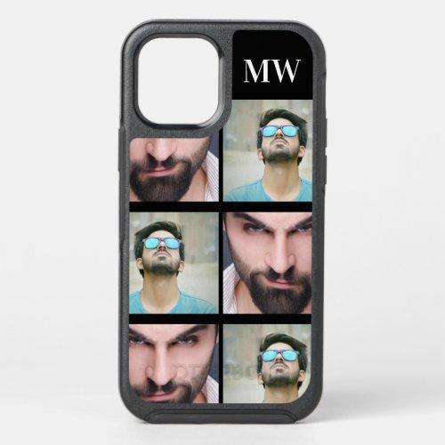 Custom 2 photo monogram pattern DIY initials Phone Case