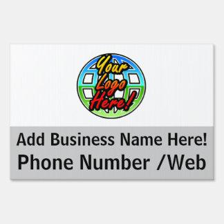 Custom 2-Sided Business Logo Yard Sign, Full-Color