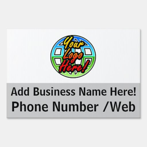 Custom 2-Sided Business Logo Yard Sign, Full-Color Yard Sign