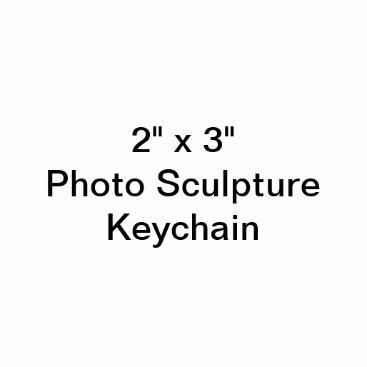 """Beach Themed Custom 2"""" x 3"""" Photo Sculpture Keychain"""