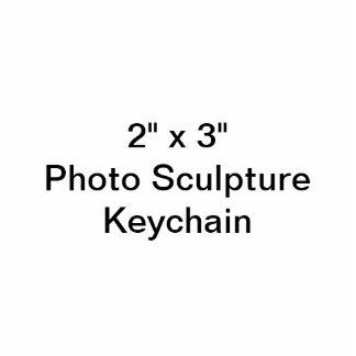 "Custom 2"" x 3"" Photo Sculpture Keychain"