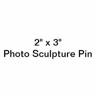 "Beach Themed Custom 2"" x 3"" Photo Sculpture Pin"