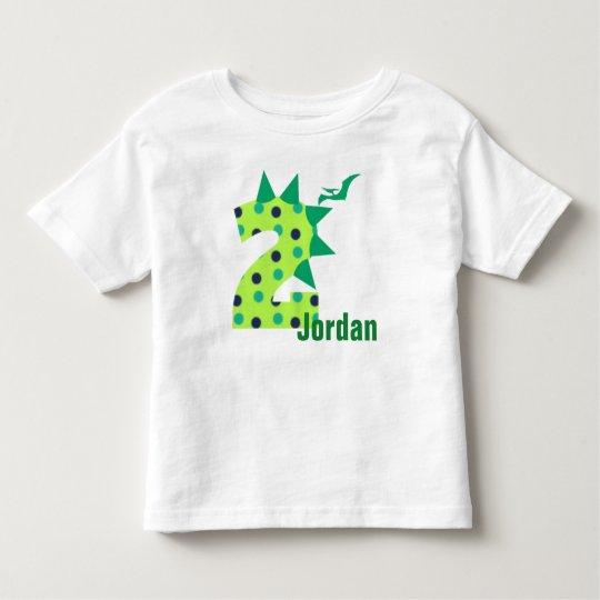 Custom 2nd Birthday Dinosaur Shirt
