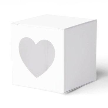 Beach Themed Custom 2x2 Favor Box With Heart