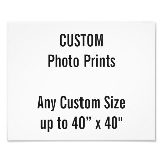 Custom 300 x 240mm Photo Print UK Frame Size