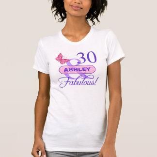 Custom 30 & Fabulous T-Shirt