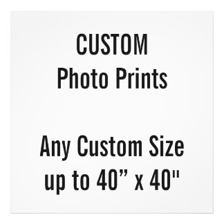 "Custom 36"" x 36"" Photo Print (or any custom size)"