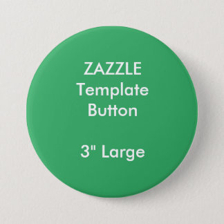 "Custom 3"" Large Round Button Blank Template"