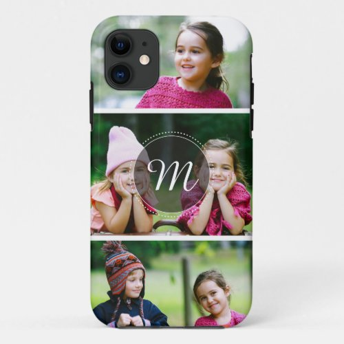 Custom 3 Photo iPhone 5 / 5S Case Phone Case