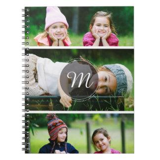 Custom 3 Photo Notebook Spiral Notebook