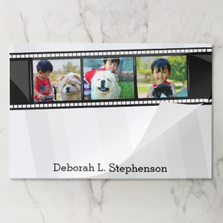 Custom 3 Photo Personalized Color Picture Desk Mat