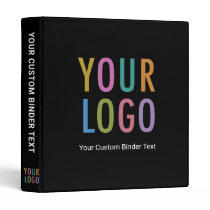 Custom 3-Ring Binder with Business Logo No Minimum