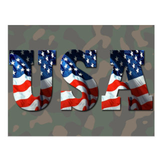 CUSTOM 3D USA Patriotic Postcards & Stationery