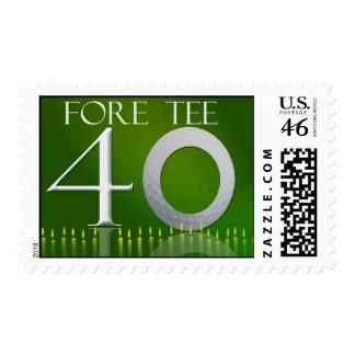 Custom 40th Birthday Postage for the golf nut