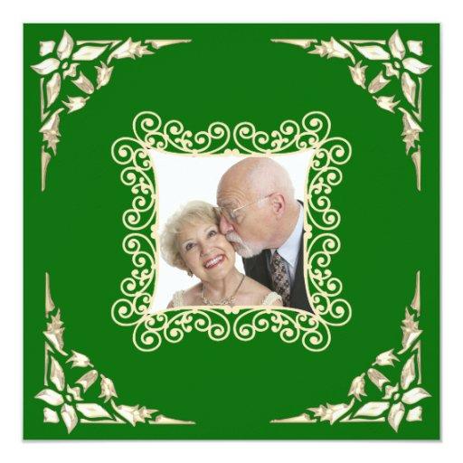 Custom 40th Wedding Anniversary Photo Invitation