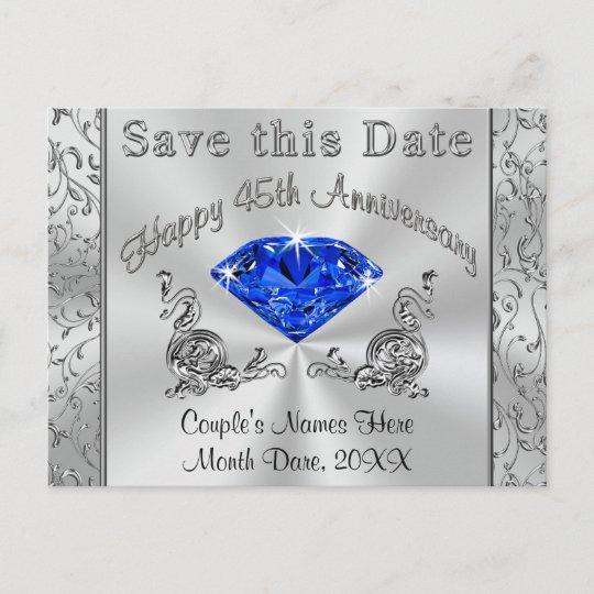 Custom 45th Anniversary Invitations Save The Date Zazzle Com