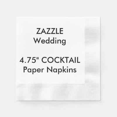 Create Your Own Paper Napkin | Zazzle.com