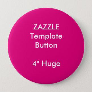 "Custom 4"" Huge Round Button Badge Blank Template"