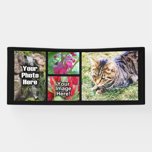 Custom 4 Photo Collage Horizontal Picture Banner