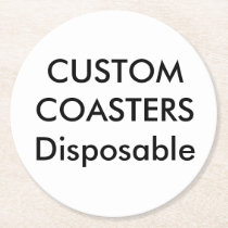 "Custom 4"" Round Disposable Party Coasters"