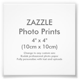 "Custom 4"" x 4"" Square Photo Print Template"