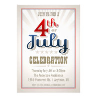 Custom 4th of July Party Invitation