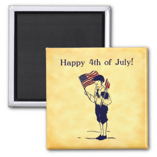 Custom 4th of July US Flag and Fireworks Magnet