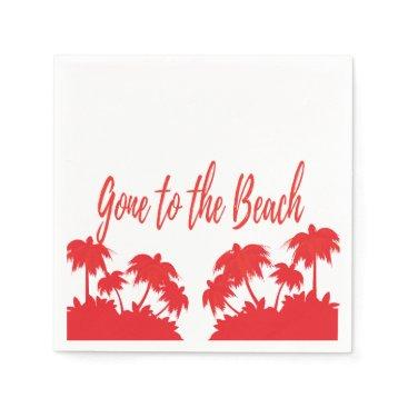 Beach Themed Custom 50 Cocktail napkins