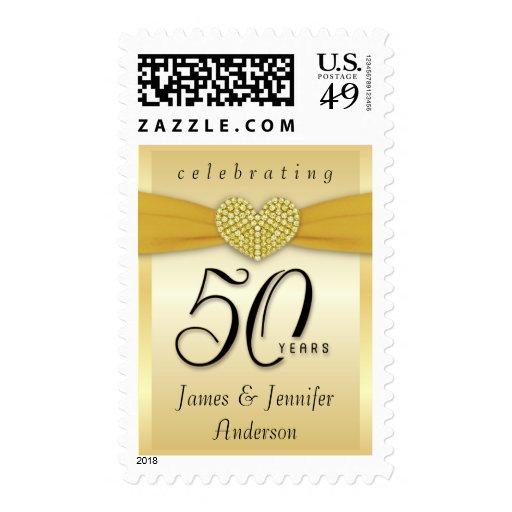 Custom 50th Anniversary Party Invitation Postage