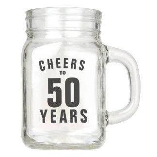 Custom 50th Birthday party mason jar mug gift