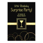 Custom 50th Birthday Surprise Party Invitations