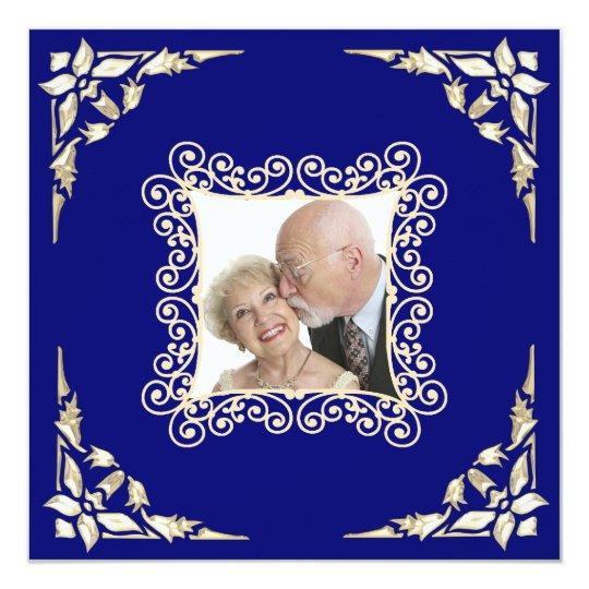 Custom 50th Wedding Anniversary Photo Invitation